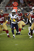 Los Angeles Chargers running back Justin Jackson (32) in action during the 2018 NFL preseason week 4 football game against the San Francisco 49ers on Thursday, Aug. 30, 2018 in Santa Clara, Calif. The Chargers won the game 23-21. (©Paul Anthony Spinelli)