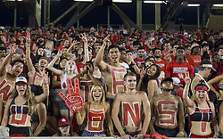 September 16, 2017 - Houston, TX, USA - Houston Cougars fans cheer during the second quarter of the college football game between the Houston Cougars and the Rice Owls at TDECU Stadium in Houston, Texas. (Credit Image: © Scott W. Coleman via ZUMA Wire)