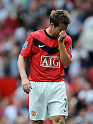 Michael Owen of Manchester United grabs his nose during the match between Manchester United and Birmingham City (1-0), Old Trafford, Manchester, England, 16th August 2009.