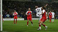 Photo: Paul Thomas.<br /> Bolton Wanderers v Braga. UEFA Cup. 25/10/2007.<br /> <br /> El Hadji Diouf (21) of Bolton scores.