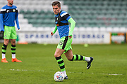 Forest Green Rovers Charlie Cooper(15) warming up during the EFL Sky Bet League 2 match between Yeovil Town and Forest Green Rovers at Huish Park, Yeovil, England on 24 April 2018. Picture by Shane Healey.