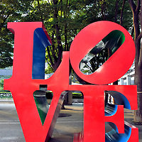 Love Sculpture in Tokyo, Japan<br /> In 1964, pop artist Robert Indiana created the stylized word LOVE for the New York Museum of Modern Art&rsquo;s Christmas card. The popular visual was made into a bright red steel sculpture in 1970 and exhibited at the Indianapolis Museum of Art. Since then, reproductions have been placed in major worldwide cities. You can snap your photo in Tokyo at the base of the Shinjuku I-Land Tower.