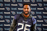 Tennessee Titans Logan Ryan CB (26) during the Tennessee Titans pre-match press conference at Syon House, Brentford, United Kingdom on 19 October 2018.