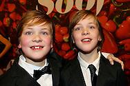 AMSTERDAM - De premiere van de Nederlandse speelfilm Soof. Met hier op de rode loper Brent en Niek Schoemaker. FOTO LEVIN DEN BOER - PERSFOTO.NU
