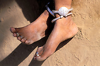 Inde - Rajasthan - Pied et bijoux // India. Rajasthan. Foot and Jewel
