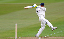 Durham MCCU's Chaitanya Bishnoi pulls the ball - Photo mandatory by-line: Harry Trump/JMP - Mobile: 07966 386802 - 04/04/15 - SPORT - CRICKET - Pre Season - Day 3 - Somerset v Durham MCCU - Taunton Vale, Somerset, England.