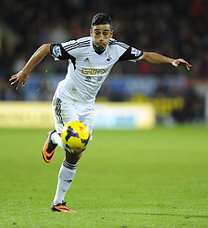 Swansea City's Neil Taylor - Photo mandatory by-line: Joe Meredith/JMP - Tel: Mobile: 07966 386802 03/11/2013 - SPORT - FOOTBALL - The Cardiff City Stadium - Cardiff - Cardiff City v Swansea City - Barclays Premier League