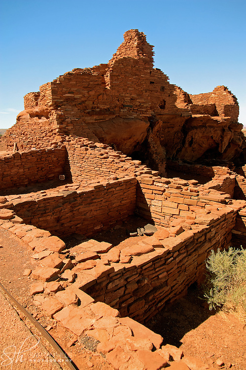 Perspective of Wupatki Pueblo - Wupatki National Monument, AZ