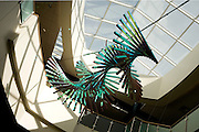 Sculpture in the Academic Research Center. Photo by John Satler