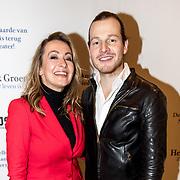 NLD/Amsterdam/20191211 - Hendrik Groen-voorstelling in premiere, Cynthia Abma en Guido Spek