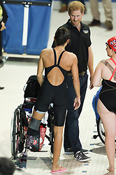 Prince Harry joined competitors at the Pan Am Sports Centre for the final training session before the start of the Invictus games 2017 toronto <br /><br />22 September 2017.<br /><br />Please byline: Vantagenews.com