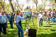 Quick Draw Art Show, Riverfront Park, Miles City Bucking Horse Sale, Montana, Betsey Hurd, artist