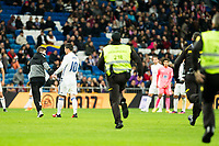 "A supporter go in tho the grass during the match of ""Copa del Rey"" between Real Madrid and Cultural Leonesa at Santiago Bernabeu Stadium in Madrid, Spain. November 29, 2016. (ALTERPHOTOS/Rodrigo Jimenez)"