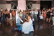 wedding garter toss by Tallmadge wedding photographer, Akron wedding photographer Mara Robinson Photography