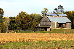 09 Oct 2011: a Farmstead in Rural Indiana, specifically in or close to Parke County.<br /> <br /> This image was produced in part utilizing High Dynamic Range (HDR) or panoramic stitching or other computer software manipulation processes. It should not be used editorially without being listed as an illustration or with a disclaimer. It may or may not be an accurate representation of the scene as originally photographed and the finished image is the creation of the photographer.