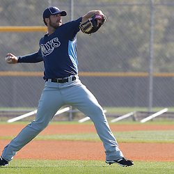 February 20, 2011; Port Charlotte, FL, USA; Tampa Bay Rays starting pitcher James Shields (33) during spring training at Charlotte Sports Park.  Mandatory Credit: Derick E. Hingle