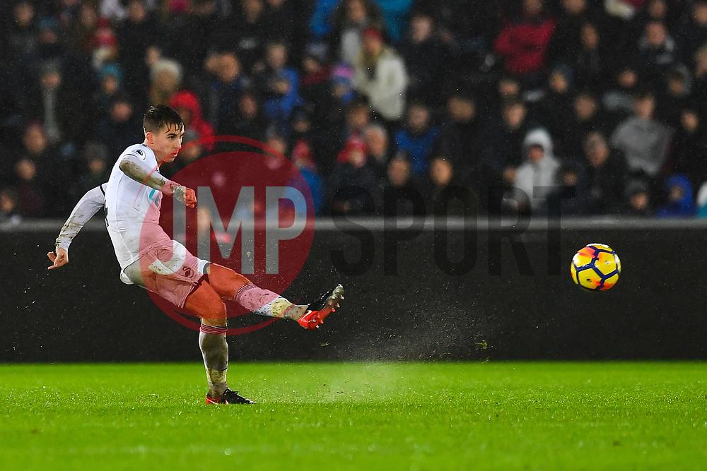 Tom Carroll of Swansea City in action - Mandatory by-line: Craig Thomas/JMP - 02/01/2018 - FOOTBALL - Liberty Stadium - Swansea, England - Swansea City v Tottenham Hotspur - Premier League