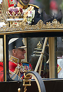 Britain's Prince Philip looks out the window, after the Royal Wedding for Britain's Prince William and Kate Middleton in London Friday, April, 29, 2011. (AP Photo/Bogdan Maran)
