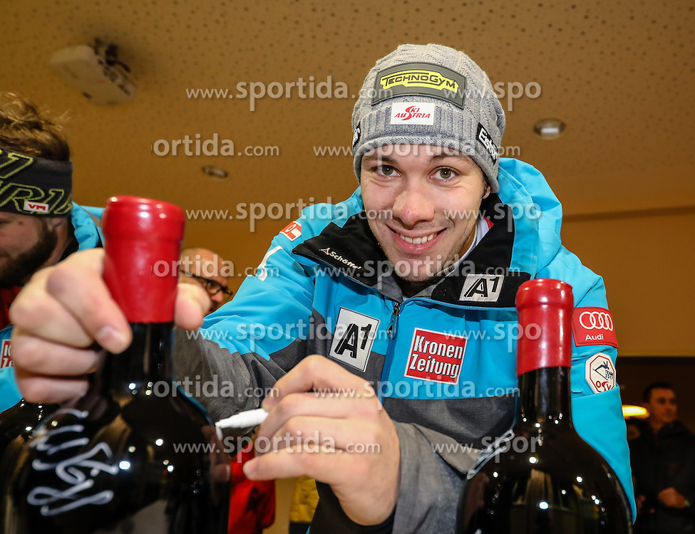23.01.2017, Planai, Schladming, AUT, FIS Weltcup Ski Alpin, Slalom, Herren, Startnummernauslosung, im Bild Michael Matt (AUT) // Michael Matt of Austria during the bibdraw prior to the Schladming FIS Ski Alpine World Cup 2017 at the Planai in Schladming, Austria on 2017/01/23. EXPA Pictures © 2017, PhotoCredit: EXPA/ Martin Huber