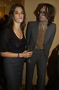 Tracey Emin and Jarvis Cocker, The South Bank Show Awards. The10th annual awards rewarding excellence in arts, The Savoy , London.January 27 2006. ONE TIME USE ONLY - DO NOT ARCHIVE  © Copyright Photograph by Dafydd Jones 66 Stockwell Park Rd. London SW9 0DA Tel 020 7733 0108 www.dafjones.com