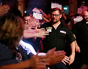 James Wade during the last 8 World Matchplay Darts 2019 at Winter Gardens, Blackpool, United Kingdom on 25 July 2019.