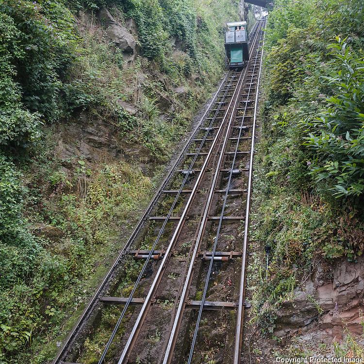 Lynton and Lynmouth Cliff Railway, Devon. Opened 1888, Devon.