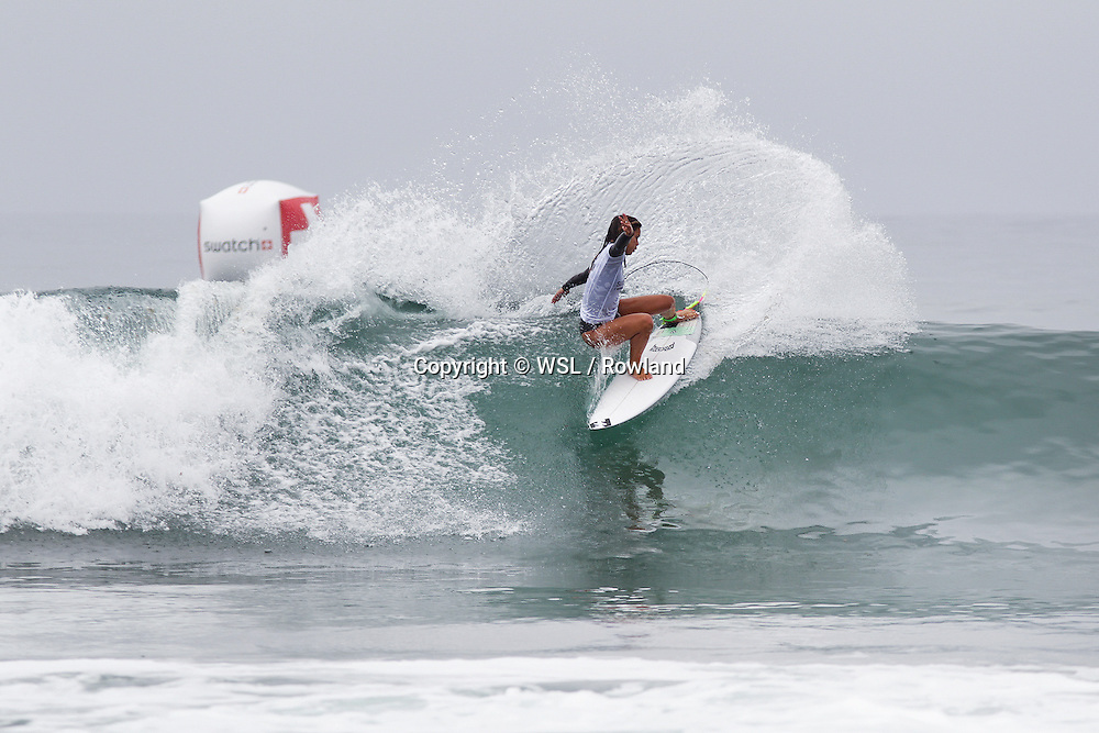 Alessa Quizon placed second in Heat 2 of Round One of the Swatch Women's Pro.