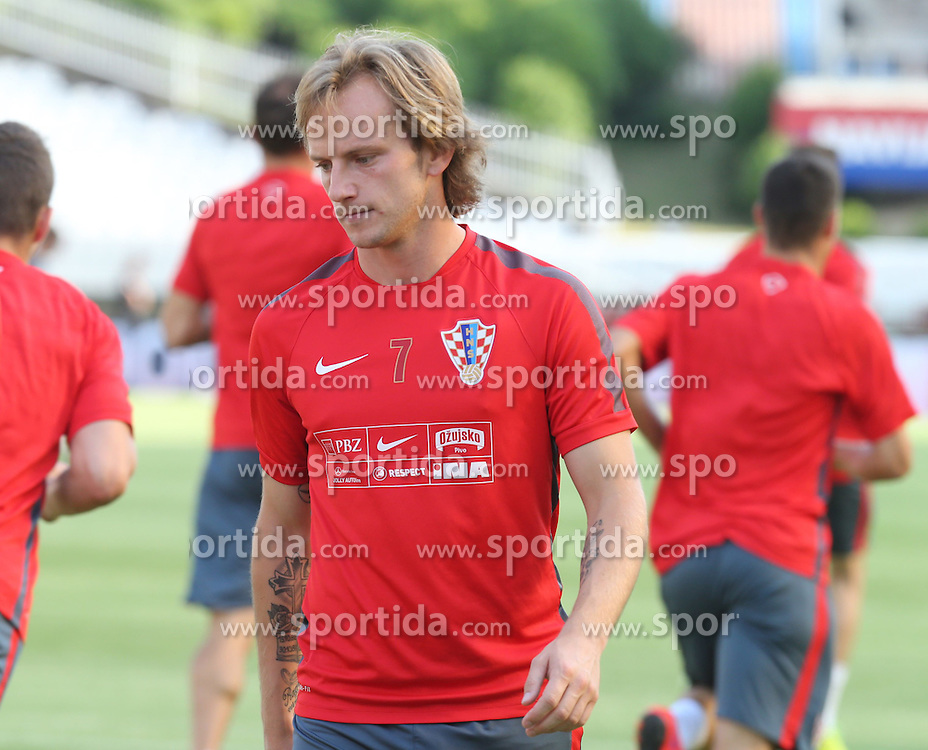 11.06.2015, Stadion Poljud, Split, CRO, UEFA Euro 2016 Qualifikation, Kroatien vs Italien, Gruppe H, Training Kroatien, im Bild Ivan Rakitic // during trainig of Team Croatia prior to the UEFA EURO 2016 qualifier group H match between Croatia and and Italy at the Stadion Poljud in Split, Croatia on 2015/06/11. EXPA Pictures &copy; 2015, PhotoCredit: EXPA/ Pixsell/ Ivo Cagalj<br /> <br /> *****ATTENTION - for AUT, SLO, SUI, SWE, ITA, FRA only*****