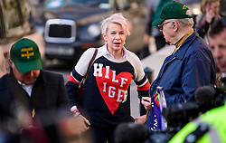 © Licensed to London News Pictures.28/03/2017.London, UK. Daily Mail Journalist KATIE HOPKINS outside the Royal Courts of Justice in London, where a judge reduced the sentence for Sgt Blackman's manslaughter charge, meaning he will be free within weeks..Photo credit: Ben Cawthra/LNP
