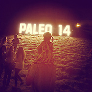iPaleo. Paleo music festival last year. The massive fetsival, depends almost entirely on volenteers, thousands of them, to keep things running. Commission for anniversary book, shot and processed entirely on iphone.