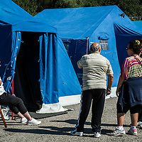 The August 24, 2016 an earthquake with normal kinematics of Mw 6.0 has hit central Italy, causing nearly 300 deaths and very serious damage to many historic towns.<br /> Since the beginning of the sequence, the National Seismic Network (INGV) has located more than 5000 events.<br /> Tents for displaced people out of the city of Pescara del Tronto.