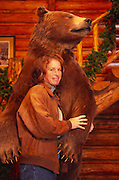 Woman with bear, Canada<br />