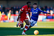 Matt Willock of Crawley Town in action during the EFL Sky Bet League 2 match between Crawley Town and Macclesfield Town at The People's Pension Stadium, Crawley, England on 23 February 2019.
