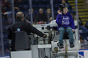 KELOWNA, CANADA - JANUARY 30:  Orchard Park Zamboni Rider at the Kelowna Rockets game on January 30, 2018 at Prospera Place in Kelowna, British Columbia, Canada.  (Photo By Cindy Rogers/Nyasa Photography,  *** Local Caption ***