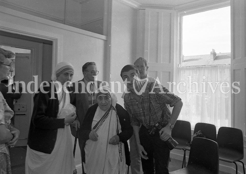 Mother Teresa of Calcutta in Rathfarnham, Dublin, circa June 1996 (Part of the Independent Newspapers Ireland/NLI Collection).