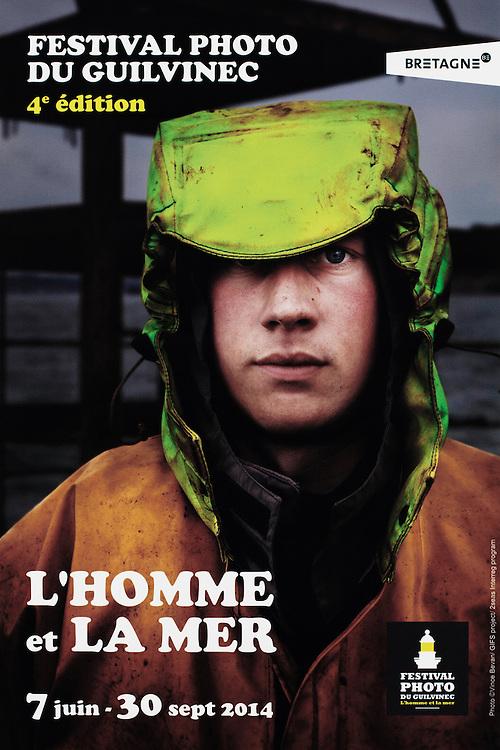 Poster for the 'L'HOMME et LA MER' PHOTO FESTIVAL.<br /> <br /> Le Guilvinec, Brittany, France.