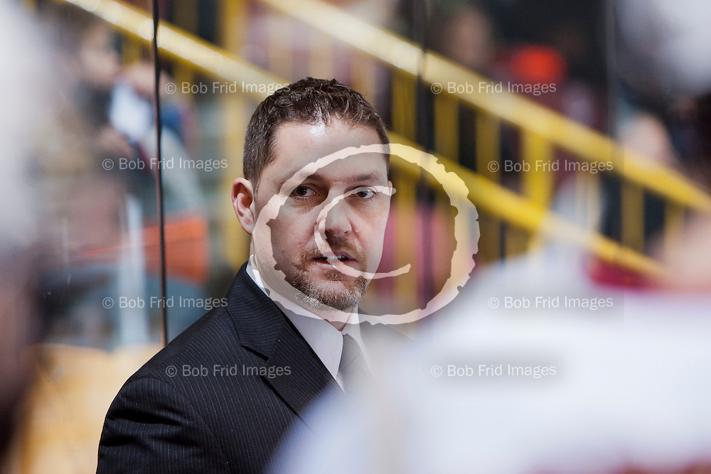 10 November 2012: Chiefs Assistant Coach Doug Ast   during a game between the Chilliwack Chiefs and the Penticton Vees at  Prospera Centre, Chilliwack, BC.    Final Score: Chilliwack 5  Penticton 4   ****(Photo by Bob Frid - All Rights Reserved 2012): mobile: 778-834-2455 : email: bob.frid@shaw.ca ****