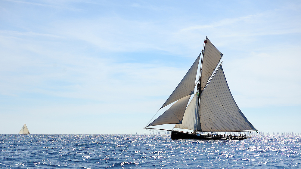 France Saint - Tropez October 2013, Classic Yachts racing at the Voiles de Saint - Tropez<br /> C,CAG,MARIGOLD,&quot;23,82&quot;,COTRE AURIQUE/1892,CHARLES NICHOLSON