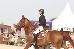 Vanderhasselt Yves (BEL) - Gladys<br /> Belgisch kampioenschap jonge springpaarden Gesves 2012<br /> © Hippo Foto - Counet Julien