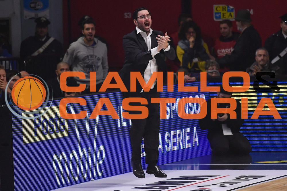 Paolo Lepore<br /> Vanoli Cremona - Dolomiti Energia Aquila BasketTrento<br /> Lega Basket Serie A 2016/2017<br /> Cremona, 29/01/2017<br /> Foto Ciamillo-Castoria