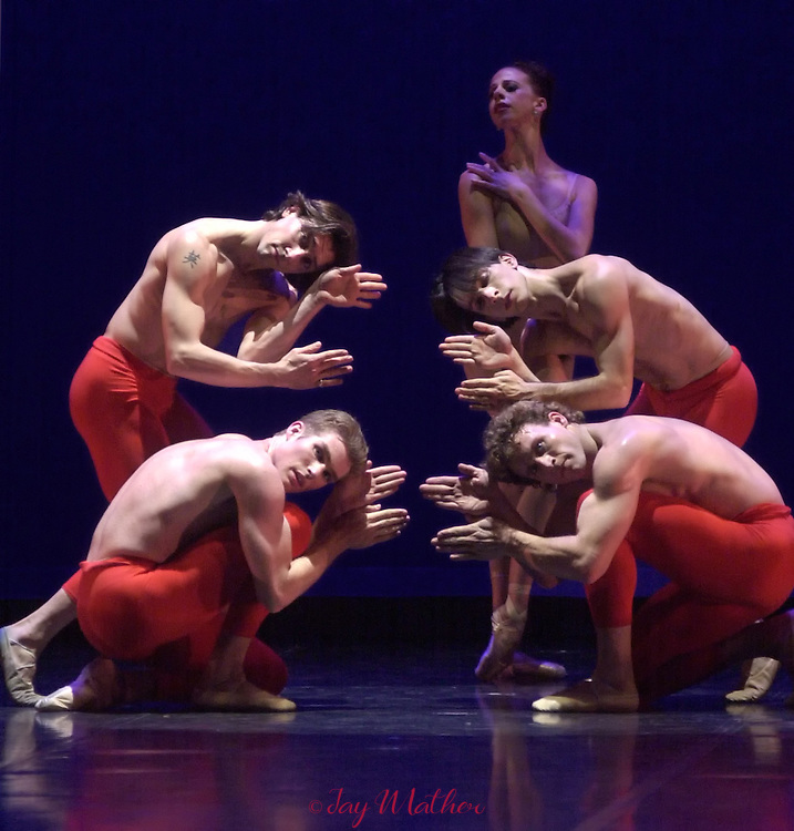Sacramento Ballet performance Carmina Burana, choreographed by Ron Cunningham, artistic director of the company.  February 2002.