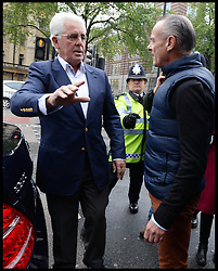 PR guru Max Clifford is confronted as he arrives at Westminster Magistrates' Court, London, charged with 11 indecent assaults allegedly committed between 1966 and 1985, .Tuesday, 28th May 2013.Picture by Andrew Parsons / i-Images