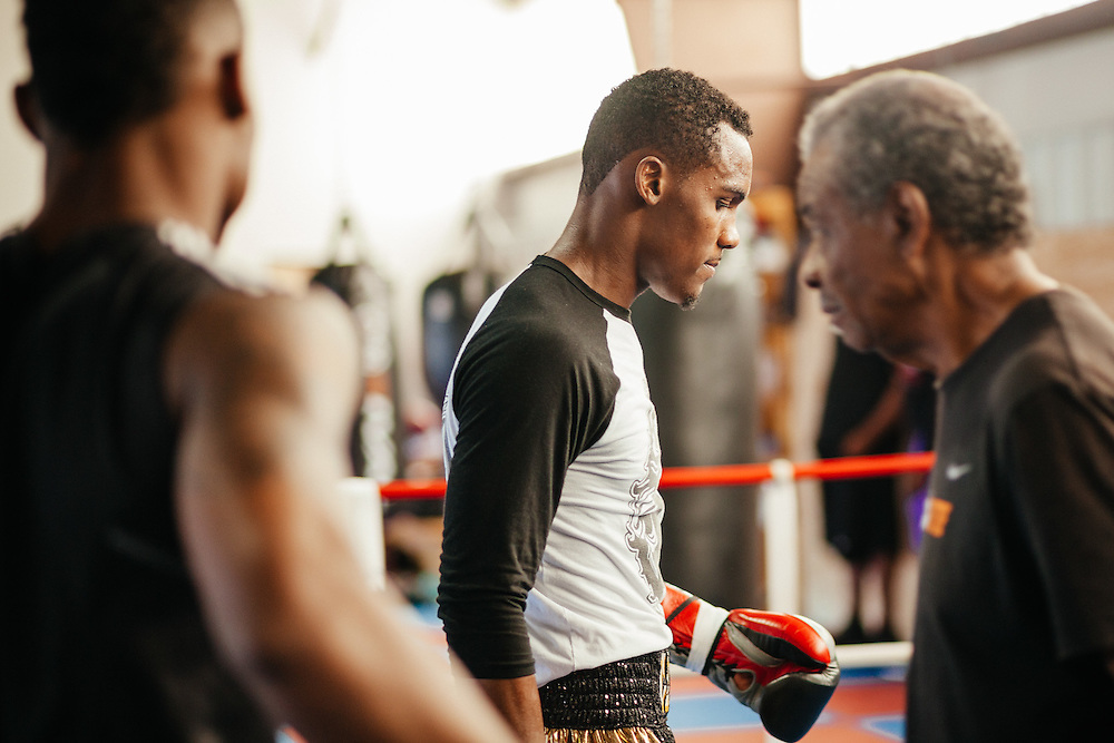 Professional boxers Jermell and Jermall Charlo.<br /> <br /> Fitness lifestyle photography by advertising photographer Nathan Lindstrom.