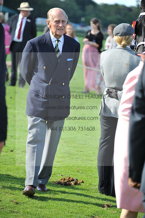 HRH The DUKE OF EDINBURGH at Al Habtoor Royal Windsor Cup Final 2012 at Guards Polo Club, Berkshire on 24th June 2012.