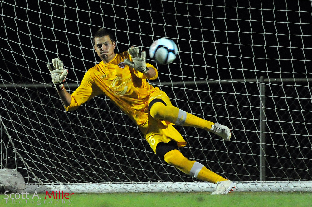 Orlando City U23 goal keeper Charles Sanders (26) in action during the Lions US Open Cup game against Jacksonville United on May 15, 2012 in Sanford, Fla. ..©2012 Scott A. Miller..