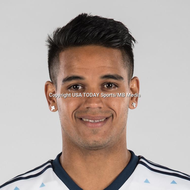 Feb 25, 2017; USA; Vancouver Whitecaps FC player Cristian Techera poses for a photo. Mandatory Credit: USA TODAY Sports