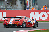 Franc?ois Perrodo (FRA) / Emmanuel Collard (FRA) / Rui Aguas (PRT) #83 AF Corse Ferrari F458 Italia, WEC 6 Hours of Silverstone 2016 at Silverstone, Towcester, Northamptonshire, United Kingdom. April 15 2016. World Copyright Peter Taylor.