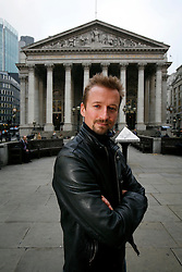 UK ENGLAND LONDON 4NOV08 - Author of 'Cityboy - Beer and Loathing in the Square Mile', Geraint Anderson poses for a portrait in the City of London. His book 'Cityboy', derived from a regular London newspaper column exposing the hitherto unknown underbelly of life in the Square Mile is a scathing account of greed and corruption amongst London's financial wheeler-dealers...jre/Photo by Jiri Rezac..© Jiri Rezac 2008..Contact: +44 (0) 7050 110 417.Mobile:  +44 (0) 7801 337 683.Office:  +44 (0) 20 8968 9635..Email:   jiri@jirirezac.com.Web:     www.jirirezac.com..© All images Jiri Rezac 2008 - All rights reserved.