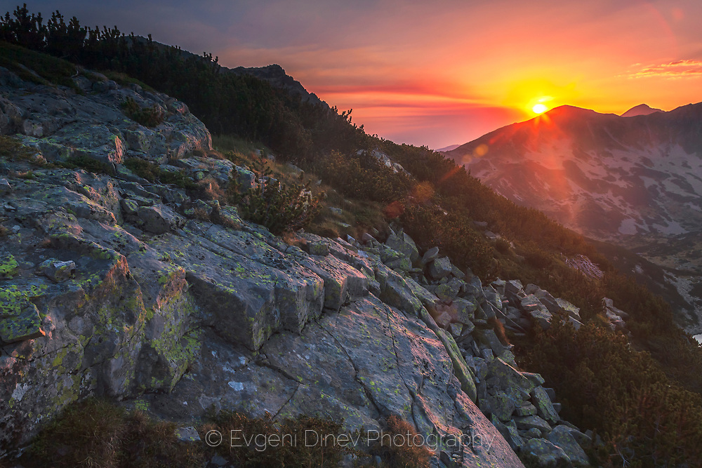 Sunset in Pirin Mountain
