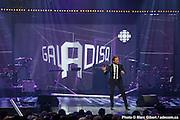 Louis-José Houde était l'animateur du gala de l'ADISQ 2012. Photo-documentaire pour Francophonie Express. à  Théâtre St-Denis / Montreal / Canada / 2012-10-28, Photo © Marc Gibert / adecom.ca